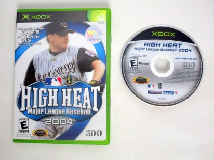 High Heat Baseball 2004 game for Microsoft Xbox -Game & Case