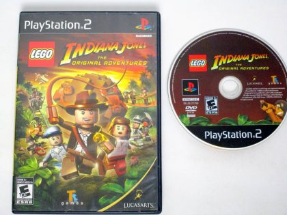 LEGO Indiana Jones The Original Adventures game for Sony PlayStation 2 -Game & Case