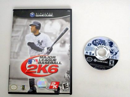 Major League Baseball 2K6 game for Nintendo GameCube -Game & Case