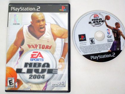 NBA Live 2004 game for Sony PlayStation 2 -Game & Case