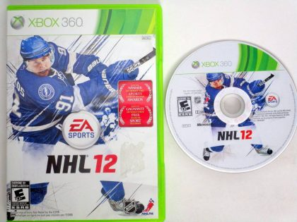 NHL 12 game for Microsoft Xbox 360 -Game & Case