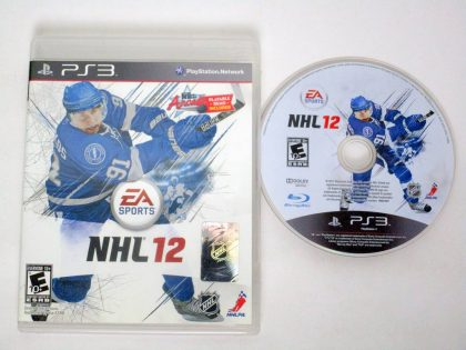 NHL 12 game for Sony PlayStation 3 -Game & Case