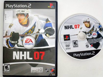 NHL 2007 game for Sony PlayStation 2 -Game & Case