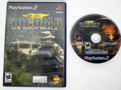 SOCOM III US Navy Seals game for Sony PlayStation 2 -Game & Case