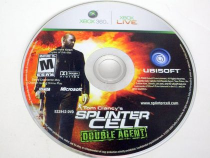 Splinter Cell Double Agent game for Microsoft Xbox 360 -Loose