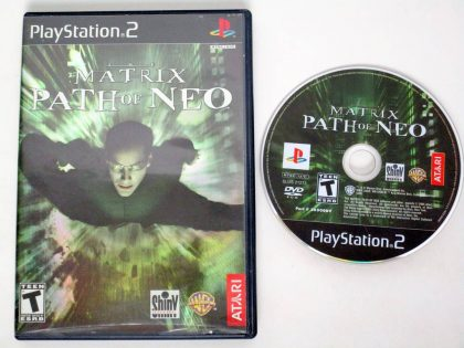 The Matrix Path of Neo game for Sony PlayStation 2 -Game & Case