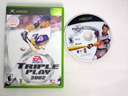 Triple Play 2002 game for Microsoft Xbox -Game & Case