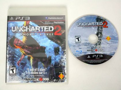Uncharted 2: Among Thieves game for Sony PlayStation 3 -Game & Case