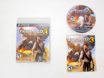 Uncharted 3: Drake's Deception game for Sony PlayStation 3 -Complete