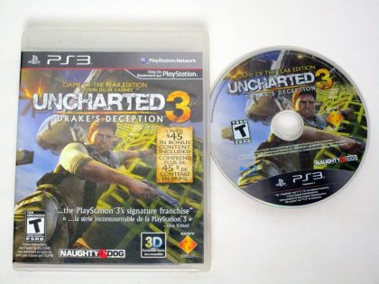 Uncharted 3 Game of the Year Edition game for Sony PlayStation 3 -Game & Case