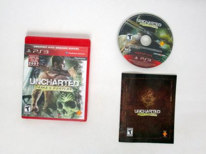 Uncharted Drake's Fortune game for Sony PlayStation 3 -Complete