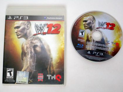 WWE '12 game for Sony PlayStation 3 -Game & Case