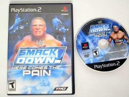 WWE Smackdown Here Comes the Pain game for Sony PlayStation 2 -Game & Case