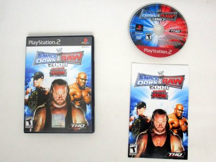 WWE Smackdown vs. Raw 2008 game for Sony PlayStation 2 -Complete