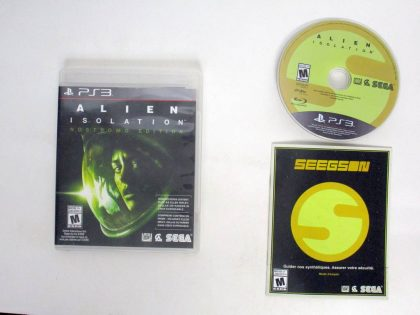 Alien: Isolation game for Sony PlayStation 3 -Complete