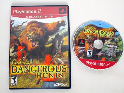 Cabela's Dangerous Hunts game for Sony PlayStation 2 -Game & Case