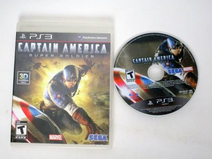 Captain America: Super Soldier game for Sony PlayStation 3 -Game & Case