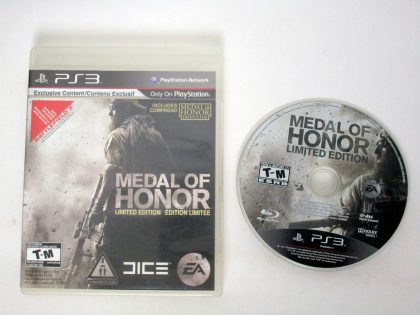 Medal of Honor Limited Edition game for Sony PlayStation 3 -Game & Case