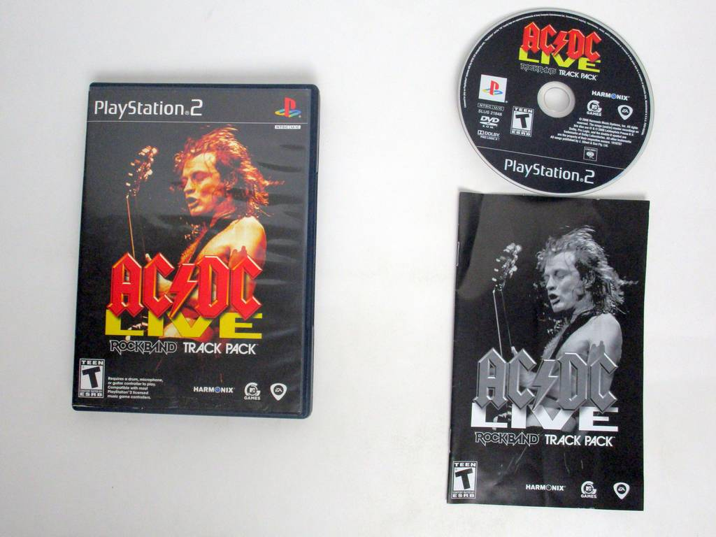 AC/DC Live Rock Band Track Pack game for Sony PlayStation 2 -Complete