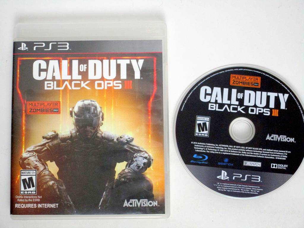 Call of Duty Black Ops III (zombies only) game for Sony PlayStation 3 -Game  & Case