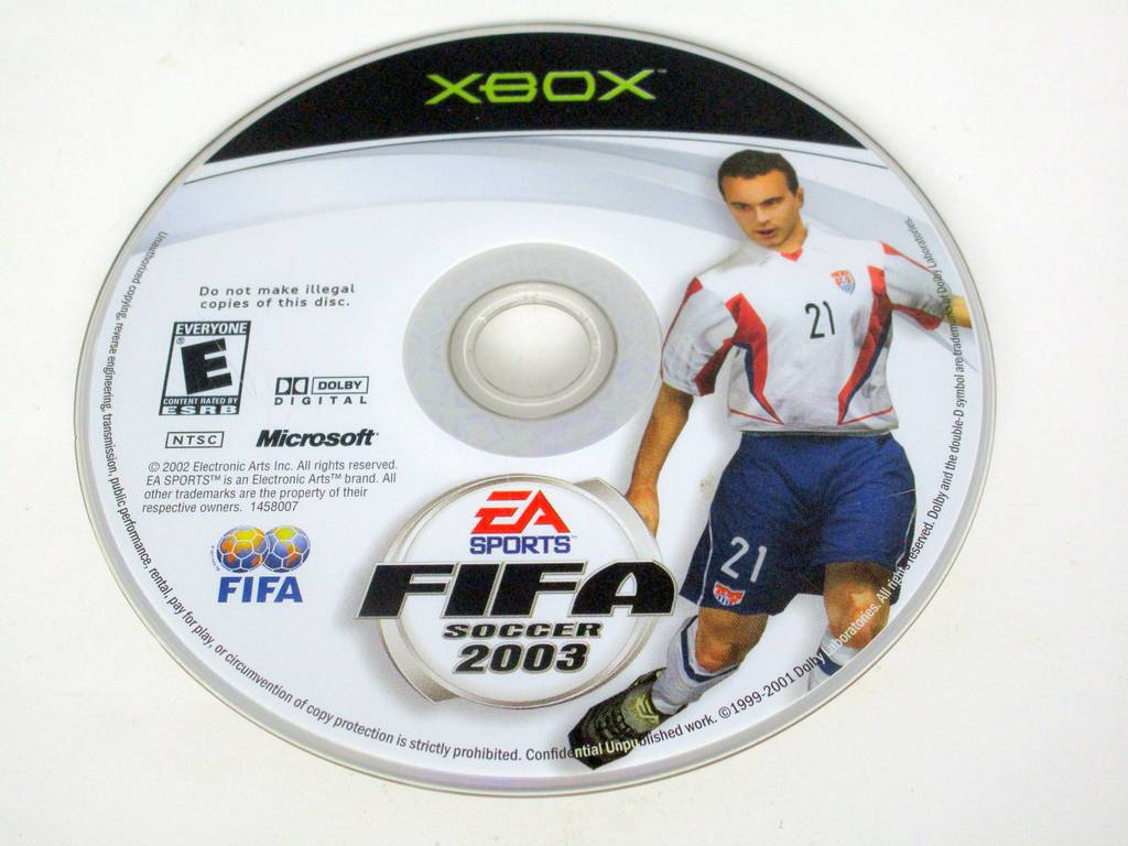 FIFA 2003 game for Microsoft Xbox -Loose