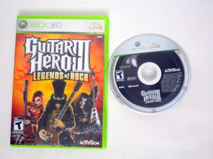 Guitar Hero III Legends of Rock game for Microsoft Xbox 360 -Game & Case