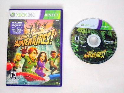 Kinect Adventures game for Microsoft Xbox 360 -Game & Case