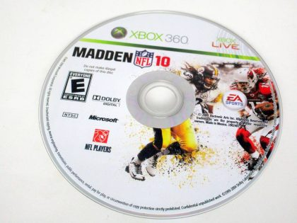 Madden NFL 10 game for Microsoft Xbox 360 -Loose
