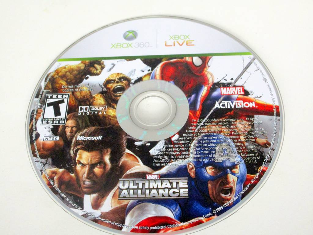 Marvel Ultimate Alliance game for Microsoft Xbox 360 -Loose