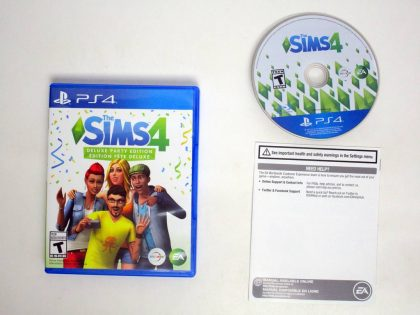 Sims 4 Deluxe Party Edition game for Sony PlayStation 4 -Complete