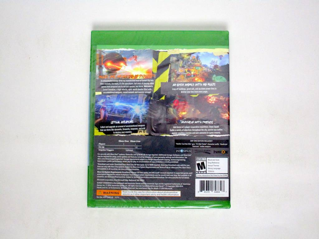 Sunset Overdrive Day One game for Microsoft Xbox One   The Game Guy