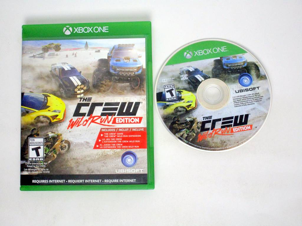 The Crew Wild Run Edition game for Microsoft Xbox One -Game & Case