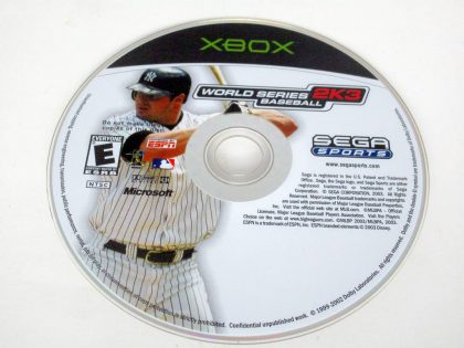 World Series Baseball 2K3 game for Microsoft Xbox -Loose