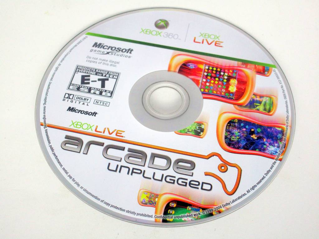 Xbox Live Arcade Unplugged Volume 1 game for Microsoft Xbox 360 -Loose