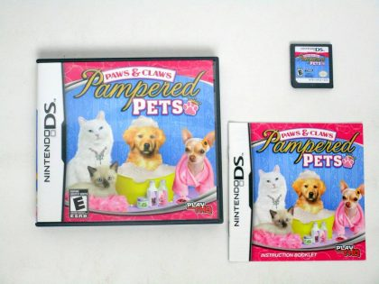 Paws & Claws Pampered Pets game for Nintendo DS -Complete