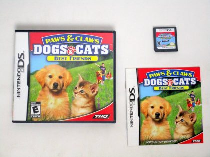 Paws and Claws Dogs and Cats Best Friends game for Nintendo DS -Complete