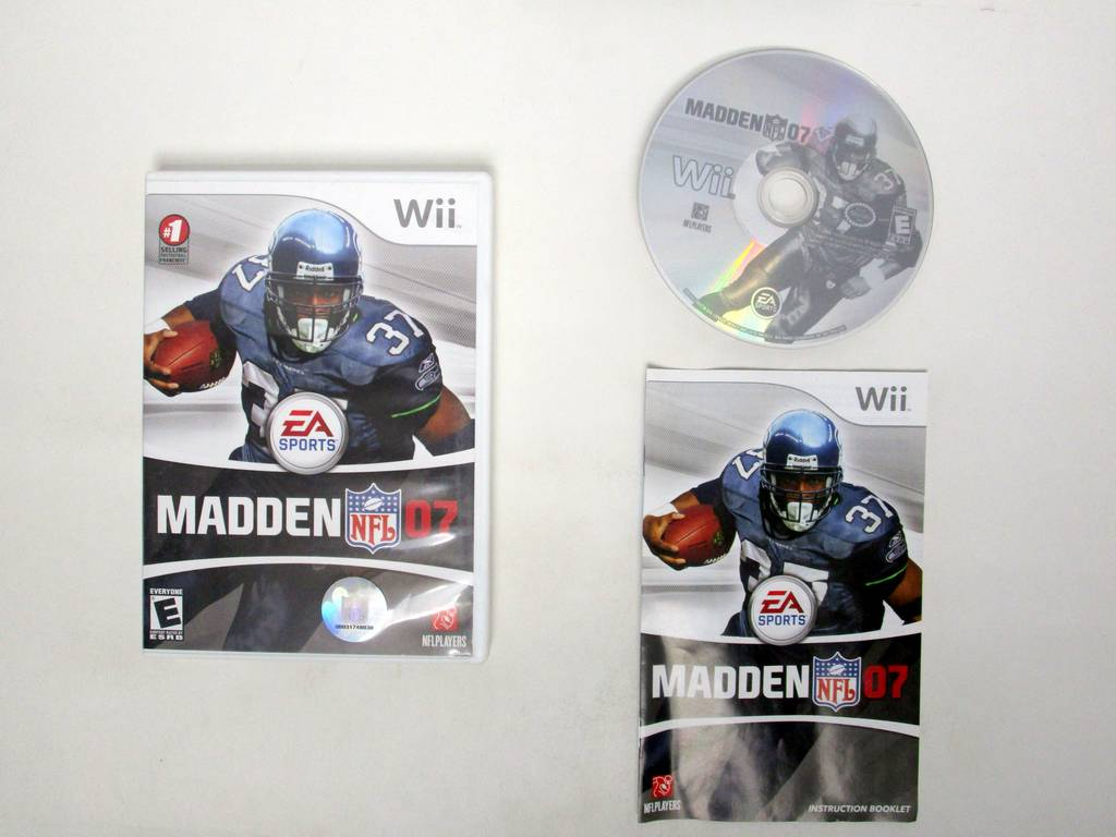 Madden 2007 game for Nintendo Wii -Complete