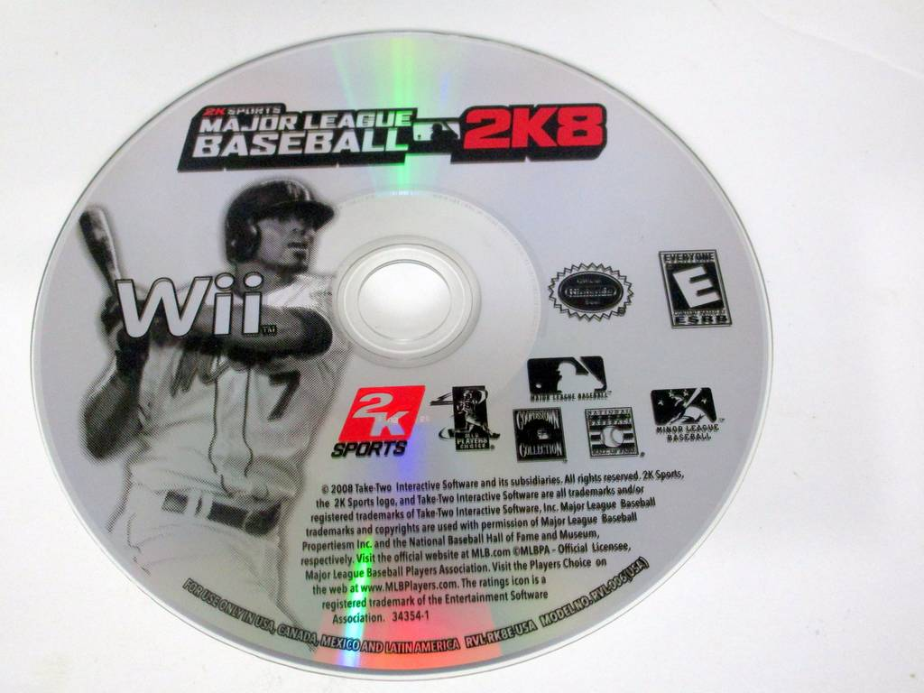 Major League Baseball 2K8 game for Nintendo Wii -Loose