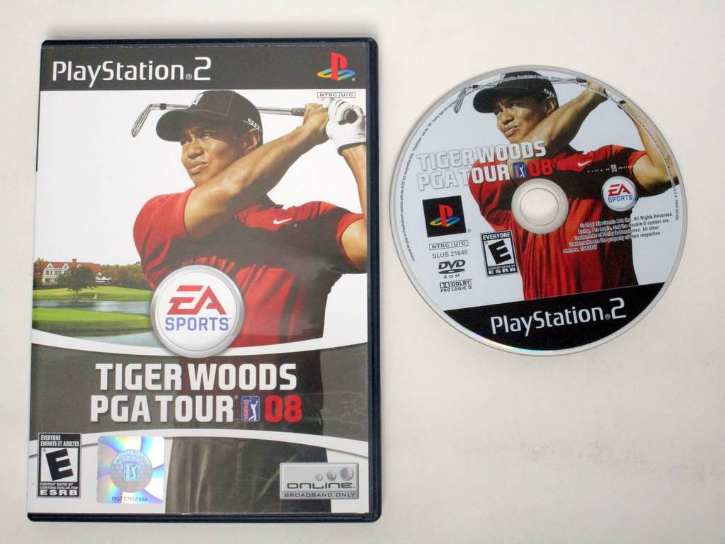 Tiger Woods PGA Tour 08 game for Sony PlayStation 2 -Game & Case
