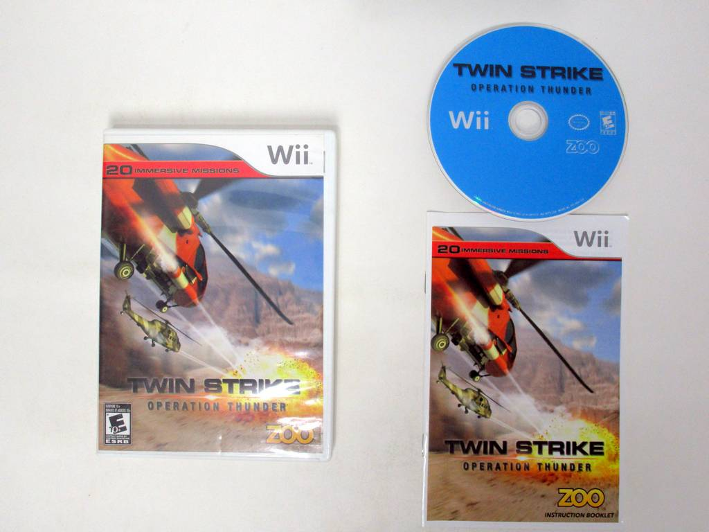 Twin Strike Operation Thunder game for Nintendo Wii -Complete
